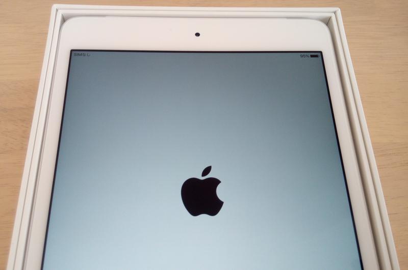 iPad mini 4の初期設定