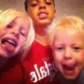 After wrestling with my little brother & sister. Love these kids :)