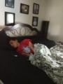 my mom caught me sleeping .-.