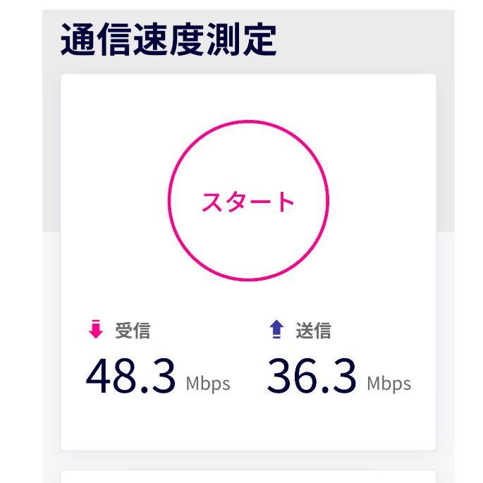 楽天モバイル速度