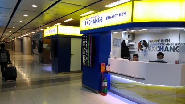 スワンナプーム空港の高レート両替え屋画像