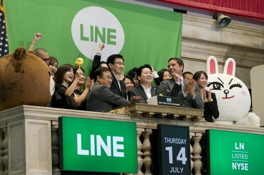 LINEがニューヨーク上場画像