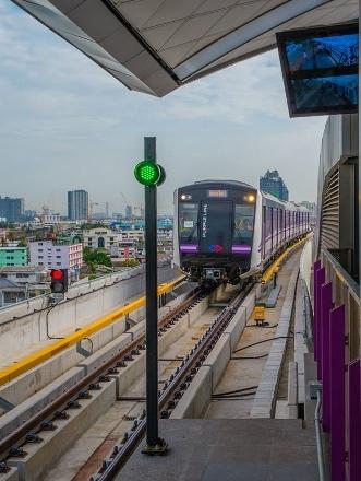 MRTのパープルライン開通画像