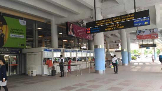 バンコク北バスターミナルのチケット売り場画像