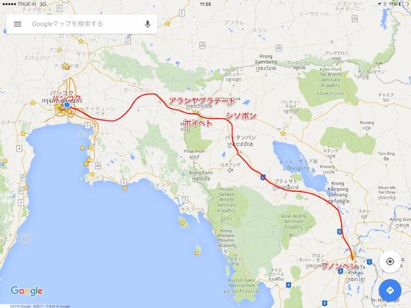 タイからポイペト地図画像