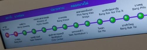 バンコクのパープルライン画像