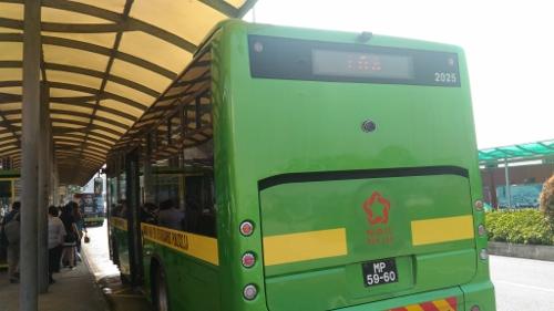 マカオのバスで外港碼頭画像