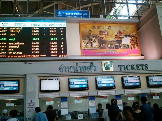タイ国鉄でタイ旅行画像