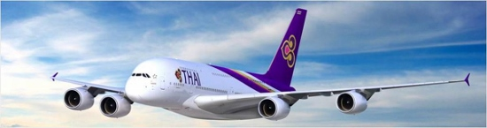 タイ航空のA380型機画像