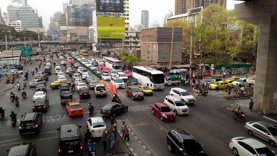 バンコクの交通渋滞画像