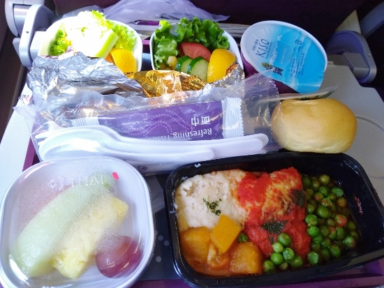 タイ航空の低脂肪機内食画像