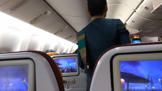 タイ航空機内で食事画像