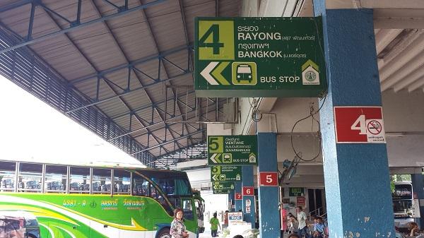 タイのウドンタニ―のバスターミナル画像