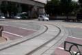 [電車][路面電車][熊本市電]車庫へ分岐する線路 2009-08-21 13:45:30