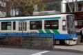 [電車][路面電車][熊本市電]2009-10-09 13:45:57 通町筋電停 夏(肥後あさがお)