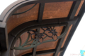 [電車][路面電車][熊本市電]2009-10-09 13:47:14 通町筋電停屋根 夏(肥後菖蒲)