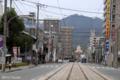[熊本][街角]河原町電停から見た金峰山 2009-10-09 14:27:47