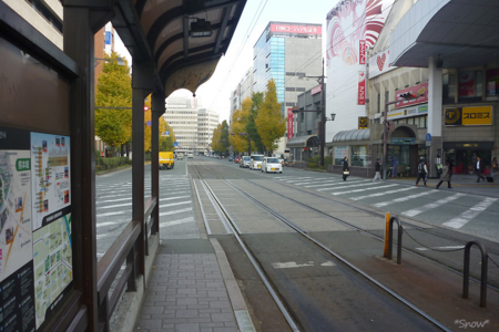 辛島町電停 2010-12-02 09:07:38