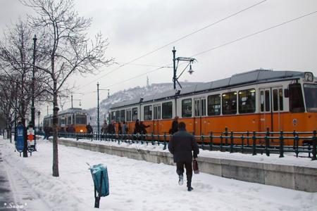 ブダペストのトラム 2003-02-11