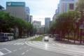 [熊本][路面電車][風景]市役所前交差点から通町筋方面 2011-05-07 11:12:31
