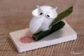 [フクロウ]京都嵯峨野の繭人形