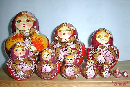 ロシア土産のマトリョーシカ