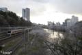[東京][桜]2010-04-03 16:52:49 牛込橋の上から見た外堀