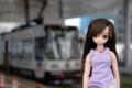 [えっくす☆きゅーと]あいかと熊本市電9704 2010-08-01 16:40:57