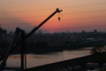 [空][夕焼け]富士山の影と隅田川 2010-11-12 16:31:29