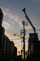 [空][雲][夕焼け]根津1丁目交差点 2011-06-08 18:47:54