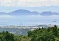 [熊本]島原半島から見た天草と九州山地 2011-07-12 11:08:25