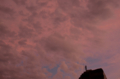 [空][雲][夕焼け]ピンクの夕焼け@根津 2012-07-17 19:12:54