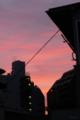 [空][雲][夕焼け]根津 2012-07-27 19:02:41