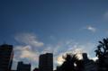 [空][雲][夕焼け][月]2012-08-22 18:11:41