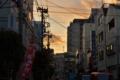 [空][雲][夕焼け]藍染大通り 2012-02-03 16:53:24