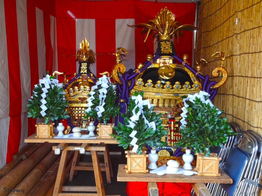 根津神社大祭 藍染町会御輿 2012-09-14