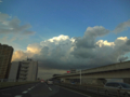 [空][雲][夕焼け]尾久橋 2012-10-06 16:33:05