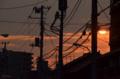 [空][雲][夕焼け]谷中 2013-05-04