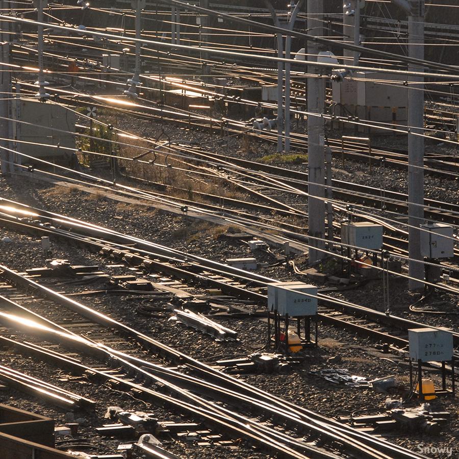 上野駅の線路 2012-12-18