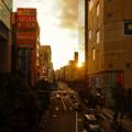 [東京][夕焼け][秋葉原]2014-03-22@秋葉原