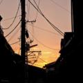 [空][雲][夕焼け]谷中@2014-09-13 17:35:16