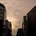 [空][雲][夕焼け]小舟町交差点 2014-09-19