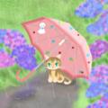 梅雨の日の猫 改二
