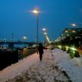 [ブダペスト]2003-02-12  ドナウ川とマルギット橋