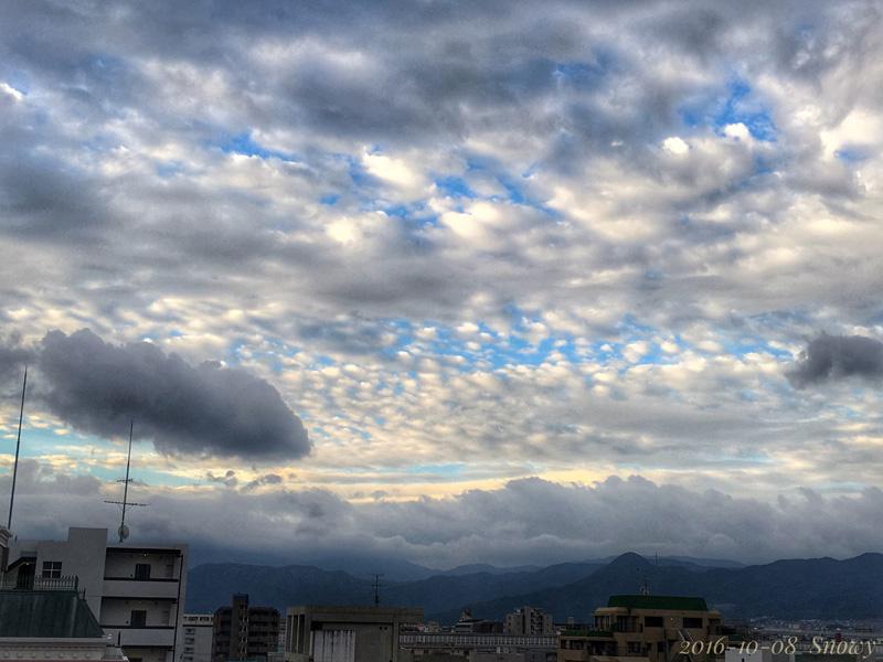 朝の空 2016-10-08