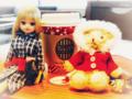 [リカちゃん][テディベア][ドール]タリーズコーヒー 天神新天町店にて(2017-11-13)