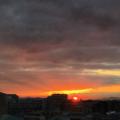 [空][雲][朝焼け][日の出]冬至の日の出(2017-12-22)