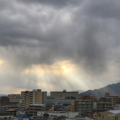 [空][雲][天使の梯子]2017-12-26