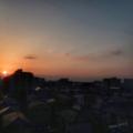 [空][雲][朝焼け][日の出]日の出(2018-03-14)