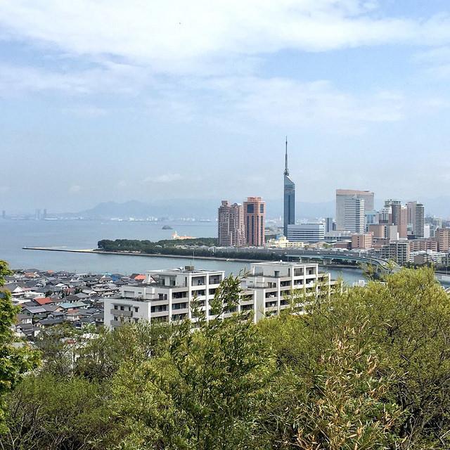 愛宕神社から福岡タワー方面(2018-04-05)